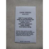 染料 ダークグリーン